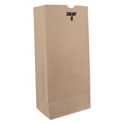 Paper Bags & Sacks 8# Bleached Paper Bag 500/Bundle