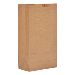 General 10# Paper Bag, 57-lb Base, Brown Kraft, 6-5/16 x 4-3/16 x 13-3/8, 500-Bundle