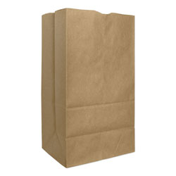 Duro GX2560S 25# Natural Paper Grocery Bags, Squat, Extra Heavy-Duty