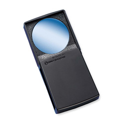 "Bausch & Lomb Round Magnifier with Cover, 5x, 2"", Black Frame"
