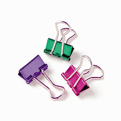 Baumgarten's Metallic Binder Clip Medium