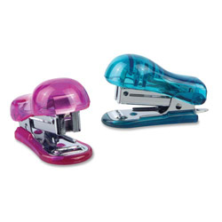 Baumgarten's Mini Stapler, Plastic, 16/DS, Translucent Assorted