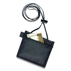 "Baumgarten's ID Neck Pouch, Convention, Adjustable 48"" Cord, 4""x3"", Black"