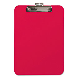 "Baumgarten's Unbreakable Recycled Clipboard, 1/4"" Capacity, 8 1/2 x 11, Red"