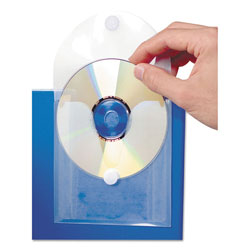 Baumgarten's 61801 Clear CD/DVD Pocket w/Self Adhesive Flap