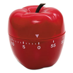 Baumgarten's Apple Timer, 0-60 Minutes, Red
