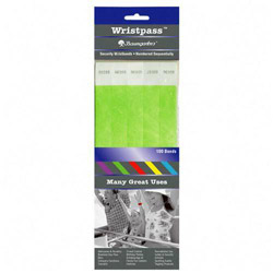 "Baumgarten's Security Wrist Band, Tear Resistant, 10""x3/4"", Green"