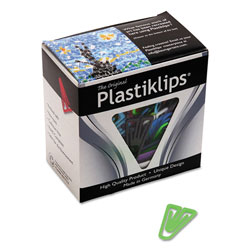 Baumgarten's Medium Plastiklips® Paper Clips, Assorted Colors