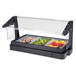 Cambro Buffet Bar 4Ft 3P W/Sng-Black