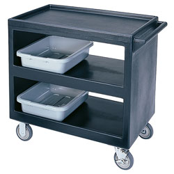 "Cambro Bus Cart 235 5"" 2Fx2Sw1B-Black"