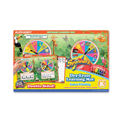 The Board Dudes Spinner Z Dry-Erase Learning Mat, Alphabet, Assorted