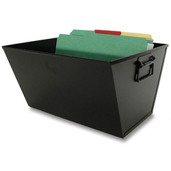 Buddy Recycled Steel Filing/Posting Tub, Letter Size, Black