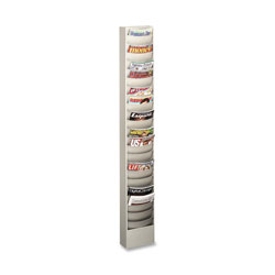 "Buddy Curved Pocket Rack, 23 Pockets, 9-3/4"" x 4-1/2"" x 36-3/8"", PM"