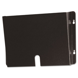 Buddy Recycle Steel Med. Records Wall Pocket, Letter Size, Black