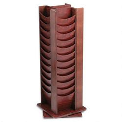 "Buddy Photo Display Rack, 48 Pockets, 16-3/4"" x 16-3/4"" x 49-1/2"", Mahogany"