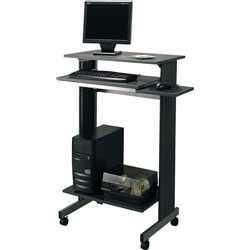 Buddy 6438-36 Euroflex Stand Up Mobile Workstation, Charcoal, 29-1/2w x 19-5/8d x 44-1/4h
