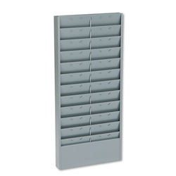 Buddy 11 Pocket Time Card Rack, Textured Steel, Gray