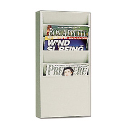 Buddy Wall Mount 5 Pocket Steel Literature Rack, Putty, 20 3/8h