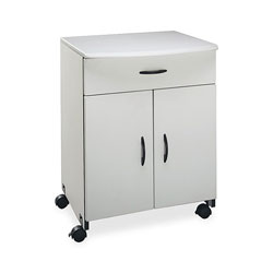 Buddy Laser Printer/Copier Stand with Drawer, Doors & Adjustable Shelf, Gray