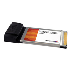 Startech 2 Port CardBus Laptop USB 2.0 PC Card Adapter - USB adapter - 2 ports