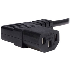 Startech Standard Computer Power Cord - NEMA 5-15P To Right Angle C13 - Power Cable - 10 Ft