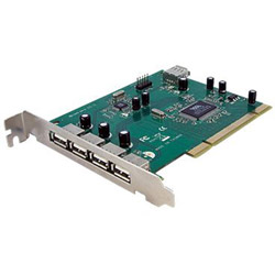Startech 7 Port PCI USB Card Adapter - USB Adapter - 7 Ports