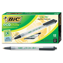 Bic Med Pt Retractable Ballpoint Pen, Black Barrel/Ink