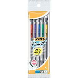 Benchmark Graphics Mechanical Pencil, 0.5mm, 5/Pack, Black Lead