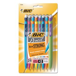 Bic Mechanical Pencil, w/Pocket Clip, .9mm, Assorted