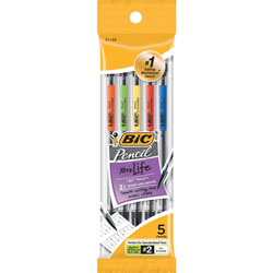 Bic Mechanical Pencil, with 3 #2 Leads, .7mm
