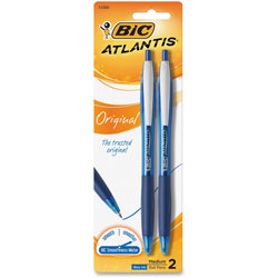 Bic Blue Retractable Ballpoint Pen, Refillable, Medium Point