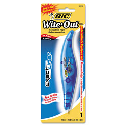 "Bic Exact Liner Correction Film, White, 1/5"" x 236"", Pen Style"