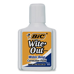 Bic Water Based Low Odor Correction Fluid, .7 Oz., White