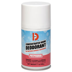Big D Metered Concentrated Room Deodorant, Potpourri Scent, 7 oz Aerosol