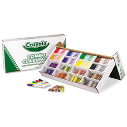 Binney and Smith Classpack Crayons w/Markers, 8 Colors, 128 Each Crayons/Markers, 256/Box