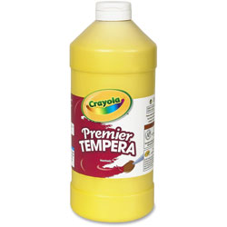 Binney and Smith Tempera Paint, Yellow, 32 oz