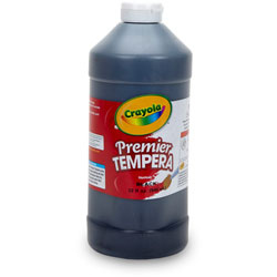 Binney and Smith Tempera Paint, Black, 32 oz
