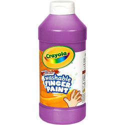 Binney and Smith Washable Fingerpaint, Violet, 16 oz