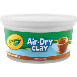 Binney and Smith Air-Dry Clay, 2.5 lbs., Terre Cotta