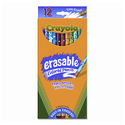 Binney and Smith Erasable Colored Pencils