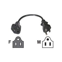 Cables To Go Outlet Saver Power Extension Cord - power extender - 25 ft