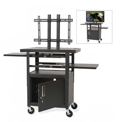 "Balt 27532 Black Height Adjustable LCD Cart, 24"" x 18"" x 62"""
