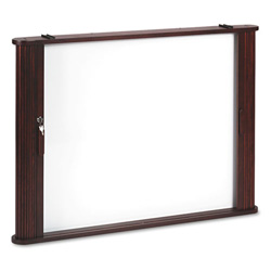 Balt Conference Room Cabinet, Magnetic Dry Erase Board, 44 x 4 x 32, Mahogany
