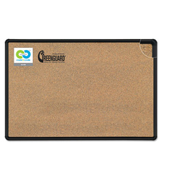 Balt Natural Cork Black Splash-Cork Board, 96 x 48, Black Frame
