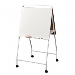 "Balt eco easel with wheels, double sided, 29 3/4""x28 3/4""x58"""