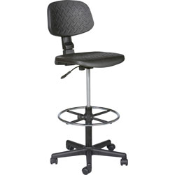 "Balt Trax Stool, Adjustable, 18 1/2"" x 18 1/2"" x 37-47"", Black"