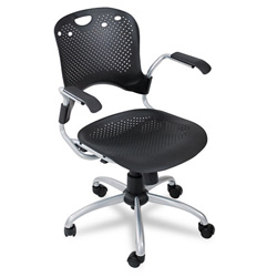 Balt Circulation Series Swivel Task Chair, Black