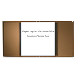 "Balt Mahogany Executive Conference Cabinet, with Tackboard, 36"" x 36"""
