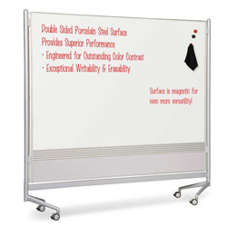 "Balt Mobile Dry Erase Double-sided Partition 76"" x 74"" - White"