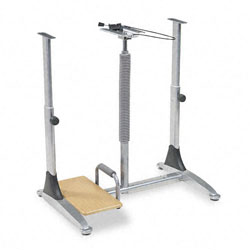 Balt 82493 Ergo Sit/Stand Workstation Base Component, Silver Steel
